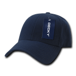 Custom Low Crown Structured Baseball Hat (Embroidered with Logo) - Navy - Decky 206