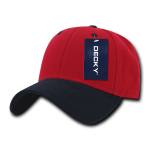 Custom Low Crown Structured Baseball Hat (Embroidered with Logo) - Red/Navy - Decky 206