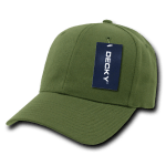 Custom Curve Bill Deluxe Baseball Hat (Embroidered with Logo) - Olive - Decky 207