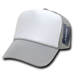 Custom Two-Tone Trucker Foam Mesh Hat (Embroidered with Logo) - Grey - Decky 210