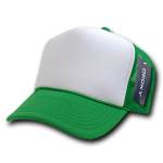 Custom Two-Tone Trucker Foam Mesh Hat (Embroidered with Logo) - Kelly - Decky 210