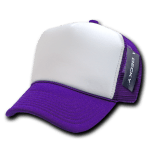 Custom Two-Tone Trucker Foam Mesh Hat (Embroidered with Logo) - Purple - Decky 210