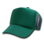 Custom Solid Color Trucker Mesh Foam Hat (Embroidered with Logo) - Dark Green - Decky 211