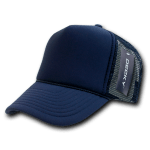 Custom Solid Color Trucker Mesh Foam Hat (Embroidered with Logo) - Navy - Decky 211