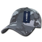 Custom Cotton Camo Baseball Hat (Embroidered with Logo) - Urban Camo - Decky 216