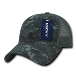 Custom Camo Trucker Baseball Cap (Embroidered with Logo) - NTG Camo - Decky 218