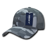 Custom Camo Trucker Baseball Cap (Embroidered with Logo) - Urban Camo - Decky 218