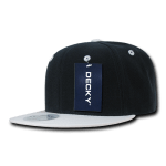 Custom Two-Tone Classic Snapback Flat Bill Hat (Embroidered with Logo) - Navy/White - Decky 351