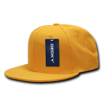 Custom Snapback Flat Bill Flex Hat (Embroidered with Logo) - Gold - Decky 873