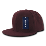Custom Snapback Flat Bill Flex Hat (Embroidered with Logo) - Maroon - Decky 873