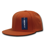 Custom Snapback Flat Bill Flex Hat (Embroidered with Logo) - Orange - Decky 873