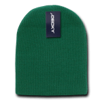 Custom Short Beanies (no cuff) (Embroidered with Logo) - Forest - Decky KCS