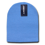Custom Short Beanies (no cuff) (Embroidered with Logo) - Sky - Decky KCS