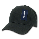 Custom Kids' Baseball Cap (Embroidered with Logo) - Black - Decky 7001