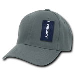 Custom Kids' Baseball Cap (Embroidered with Logo) - Charcoal - Decky 7001