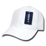 Custom Kids' Baseball Cap (Embroidered with Logo) - White - Decky 7001
