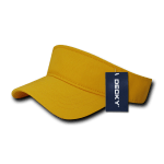 Custom Youth Visors (Embroidered with Logo) - Gold - Decky 7007