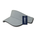 Custom Youth Visors (Embroidered with Logo) - Grey - Decky 7007