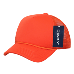 Custom Youth Trucker Mesh Baseball Hat (Embroidered with Logo) - Orange - Decky 7010
