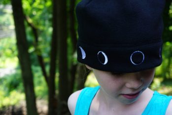 StarInAStar Moon Hat Science clothing - clothing that makes you smarter. Learn the moon phases and their locations in the sky.