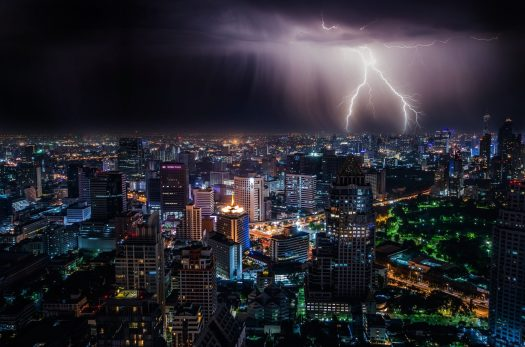 Lightning and thunder can help you see the speed of sound.