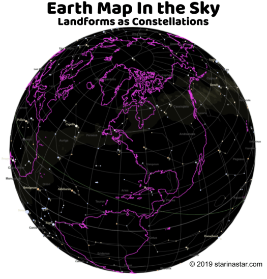 Earth Map in the Sky
