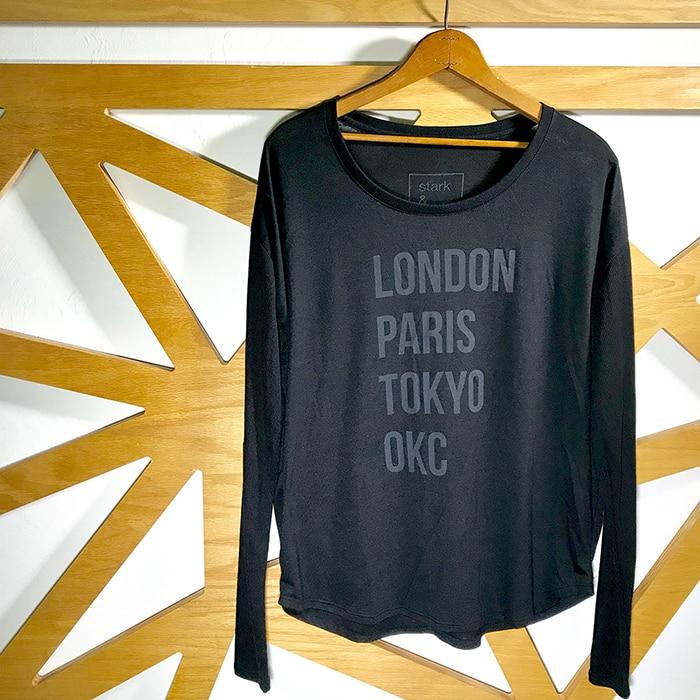 Stark and Basic London Paris Tokyo OKC oklahoma city shirt
