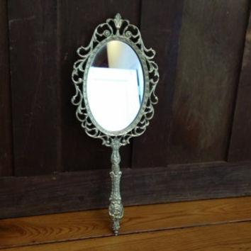 Brass Hand-Mirror