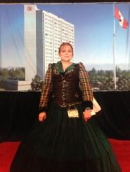 Virgnia becostumed for the Aurora Awards Tea.