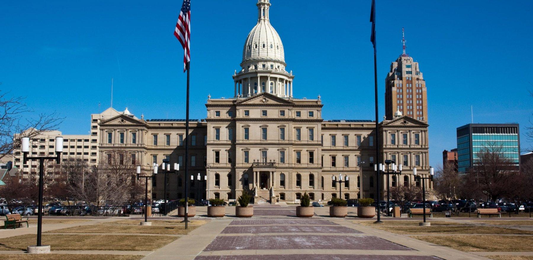 Michigan State Capitol Building. Lansing, MI, USA.