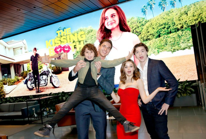 Carson White with the cast of The Kissing Booth