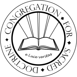 Congregation for Sacred Doctrine Logo (PERMISSION REQUIRED)