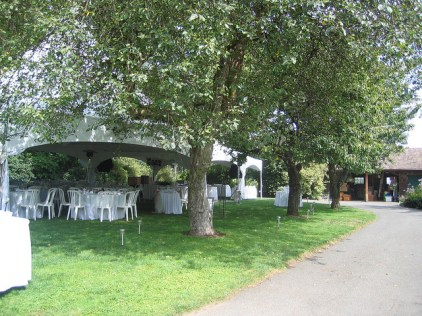 Reception tent on great lawn