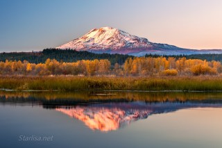 Mount Adams Autumn Sunset