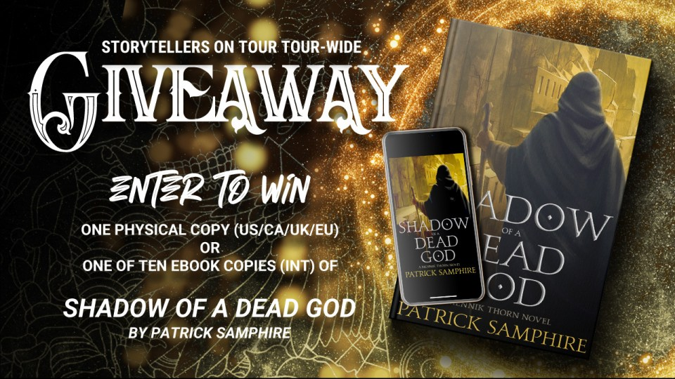 Shadow of a Dead God by Patrick Samphire, giveaway