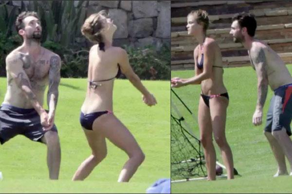 Adam Levine Hits Mexico With New, Model Girlfriend Nina ...