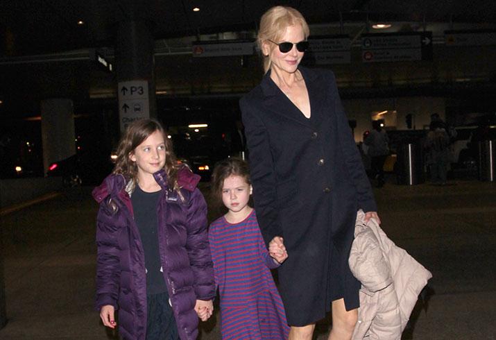 Nicole Kidman Admits She Barely Knew Keith Urban On: Nicole Kidman Departs LAX With Daughters Amid Rumor Of