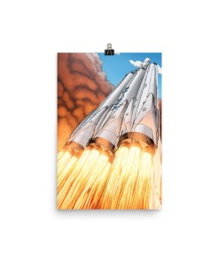 Falcon Heavy, Starman, SpaceX, Falcon Heavy Poster, Falcon Heavy Launch