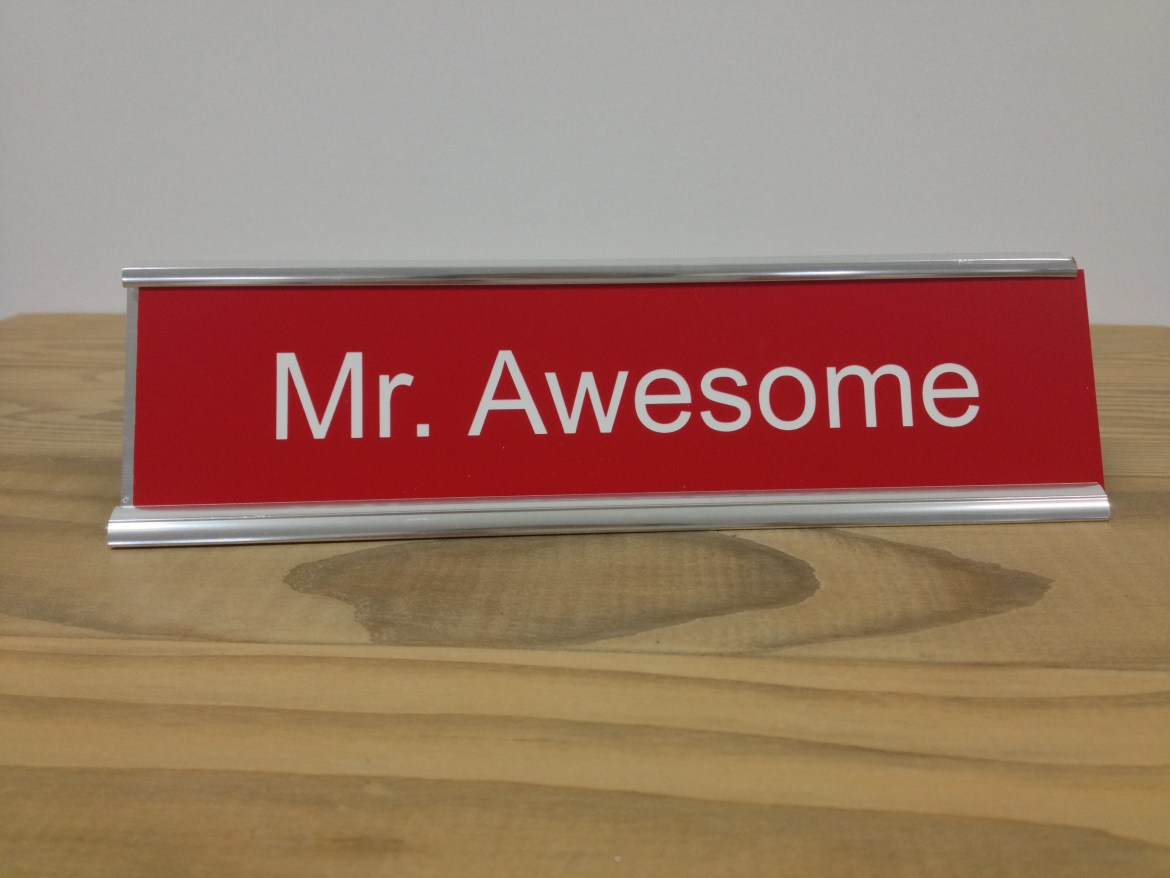 Custom Engraved Desk Name Plate Principal