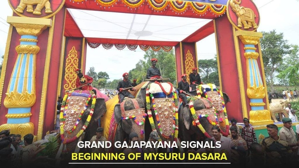 Grand Gajapayana Signals Beginning Of Mysuru Dasara 2017