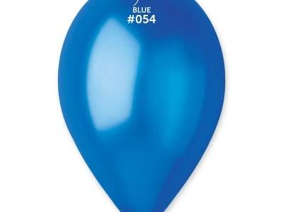 Kummist õhupall metalli läikega sinine (54)