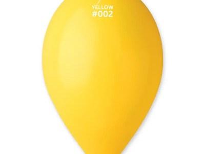 Kummist õhupall kollane (02)
