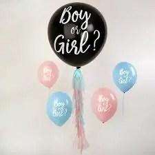 "Õhupall Boy or Girl 36"" roosade konfettidega"