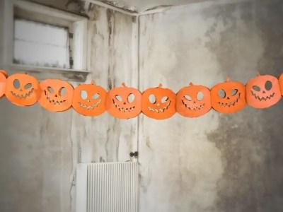Halloweeni kõrvitsa bänner 3m