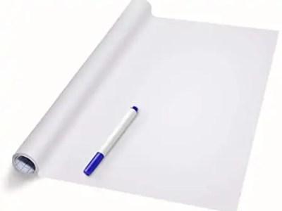 Valge kleebitav tahvel koos markeriga 200*45cm