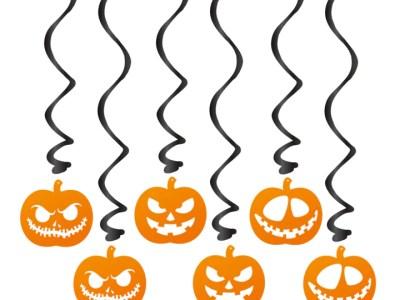 Dekoratiivsed spiraalid Halloweeniks 6tk