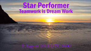 Star Performer -Teamwork is Dream Work Copyright by Steve J Davis. All Rights Reserved. https://starperformer.info