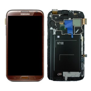 SAMSUNG GALAXY NOTE2 LCD DISPLAY DIGITIZER AMBER BROWN