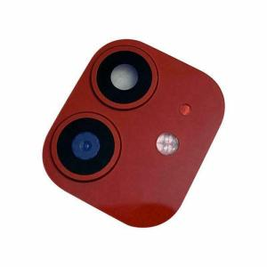 For iPhone 11 Replacement Camera Lens With Frame And Sticker Red