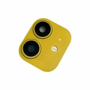 For iPhone 11 Replacement Camera Lens With Frame With Sticker Yellow